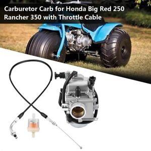 CARBURETOR CARB FIT FOR Honda ATC250ES Big Red 250 Rancher 350 2000-2006