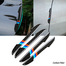 4PCS ///M Carbon Fiber Sporty Door Scratch Bumper Scuff Decor Stickers For BMW