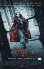 AMANDA SEYFRIED SIGNED RED RIDING HOOD 11X17 MOVIE POSTER JSA COA N37869
