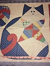 Cranston Fabric Panel 2 Cat Kitten Toys Pillows Country Cottage Patchwork Pink