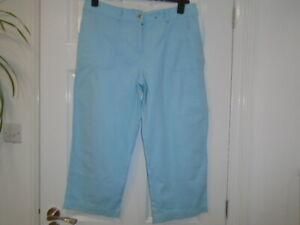 1 Good quality aqua turquoise cropped trousers, GEORGE, size 14, inside leg 22