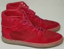 8c8c61af7551 Balenciaga Red Suede Shoes Mens High Top Sneakers Mens 44 US 11