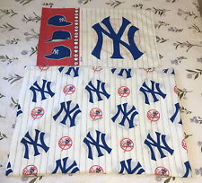 Vintage New York Yankees Flat Twin Bed Sheet And Pillowcase