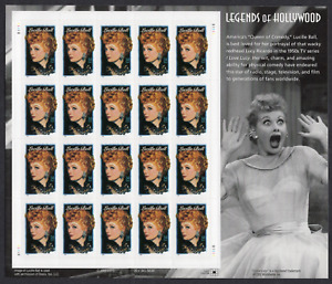 LUCILLE BALL Legends of Hollywood Mint Sheet of 20 @ 34 Cent Stamps 2000 USPS