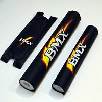 "BMX Pad Set (20"" Black) —AUS STOCK— Gift Kids Bike Bicycle Safety Crash"