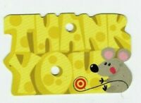 Target Gift Card Die-Cut Mouse & Cheese - 2007 - No Value - I Combine Shipping