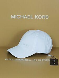 MK Michael kors hat CAP MK SUMMER 1 WHITE ONE SIZE RRP £70 ADJUSTABLE STRAP