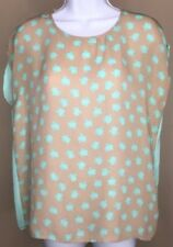 Forever 21 Hello Kitty Foreveer Top Size Small Sheer Blue Brown Animal Print