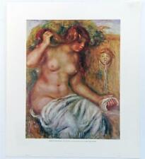 Vintage PIERRE AUGUSTE RENOIR The Fountain Nudes Women Print Lithograph #Z225