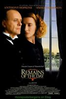 REMAINS OF THE DAY MOVIE POSTER Original SS 27x40 ANTHONY HOPKINS EMMA THOMPSON