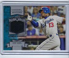 2013 Topps Chasing History Relics #CHR-HR HANLEY RAMIREZ Dodgers MARLINS RECORD