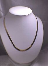 """Solid 10K Yellow Gold 20"""" Inch Herringbone Chain. Beautiful Lobster Clasp 5mm"""