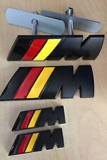 ///M Sport German Flag Metal Set (1x Front Grill 2x Wings + 1x Boot Badge)BMW