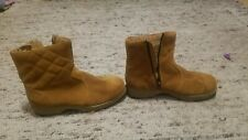 knightsbridge men's boots size 7 w leather with zipper and plastic cleats