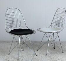 Dkr Eiffel Wire chair sedia acciaio cuscino nero bianco design anni 50 designer