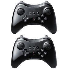 2 Controles inalámbricos Bluetooth de alta calidad negros para Nintendo Wii