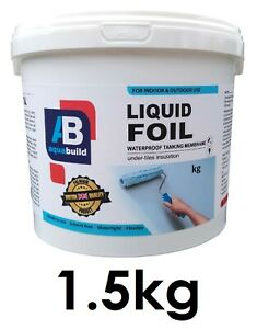 1.5kg Waterproof Tanking Membrane Aqua Build Liquid Foil Shower Wet Room System