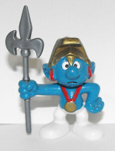 20109 Halberdier Vintage Roman Empire Knight Smurf with Spear 2-inch Figurine