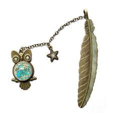 Copper Pentagram Stars Owl Feather Luminous Child Bookmark Read Reading Mark S