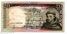 PORTUGAL Billet 20 ESCUDOS 1964 P167 SANTO ANTONIO  BON ETAT