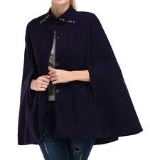 Women's Cute Single-Breasted Sleeveless Cape Poncho Cloak Coat Outwear M