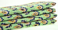 5 Yard Indian Hand Block Print Cotton Fabric Natural Printed Handmade Sanganeri