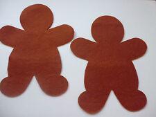 felt gingerbread man ex large x 6 die cut applique card making