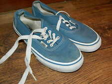 Da Uomo Vans Blu Pelle Stringati Sneaker UK 8 EX DISPLAY