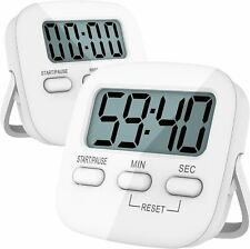 2 Pack / 1 Pack Digital Kitchen Timers Magnetic Countdown Timer Loud Alarm