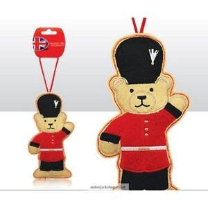 British Themed  London Guardsman Teddy Bear Christmas Tree  Decoration