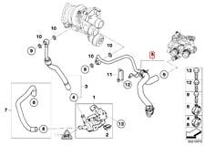 Mini Cooper S R55 R56 R57 N14 11537567849 / 7567849 Schlauch rücklauf