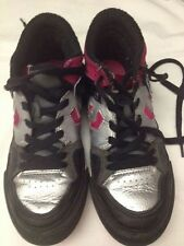 Converse - scarpe da ginnastica - nero argento fucsia - N° 33 - cm 20 - USATE