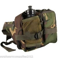 BOYS ARMY CAMO WAIST BAG AND WATER BOTTLE WALLET BUMBAG CAMPING TRAVEL HOLIDAY