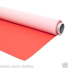 2m x 3m - 2 en 1 Recto Verso Rouge & Rose Vinyl Photographique Fond