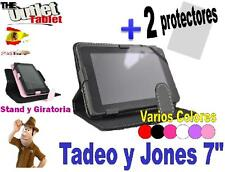 "FUNDA PARA TABLET TADEO Y JONES 7"" PULGADAS + 2 Protectores I-joy ijoi ijoy"
