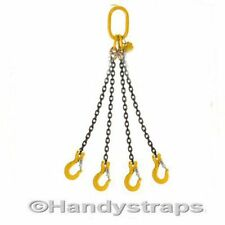 6 meter  x 4 Leg 10mm Lifting Chain Sling 20ft  CONTAINER LIFTING CHAINS