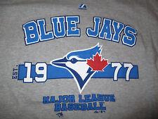 Majestic TORONTO BLUE JAYS Est 1977 MAJOR LEAGUE BASEBALL (XL) T-Shirt