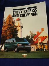 1998 Chevy Express & Chevy Van Brochure ORIGINAL (#68)
