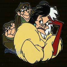 Disney Pin *Villain & Sidekick* Collection - Cruella with Horace & Jasper!