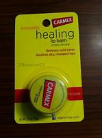 1 ORIGINAL Carmex Moisturizing Lip Balm For Dry Chapped Lips .25 Oz Jar SPF 15