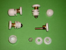 White Shower Door Rollers, Wheels, Runners. 4 x SR37