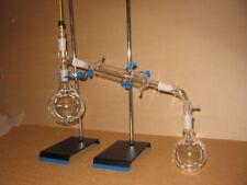 1000ml 24/40 distillation kit with stands round or flat bottom flasks premium