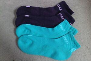 2 Pairs Salomon Active  Trail Running Socks 6-9 Green Purple
