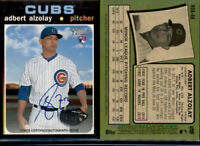 2020 Topps Heritage ADBERT ALZOLAY Real One Autograph Auto Cubs RC Rookie ROA-AA