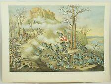 Lookout Mountain Battle Vintage Civil War Kurz & Allison Lithograph Folio Print