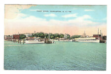 Yacht Basin Charleston South Carolina Vintage Postcard EB14