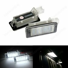 2x 18 SMD White LED License Number Plate Light Lamp Renault Espace Scenic Laguna