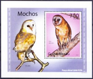 Guinea Bissau 2010 MNH MS, Ashy-faced Owl, Birds of Prey