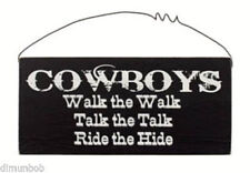 """""""Cowboys Walk the Walk""""Rustic Decorative Wood Sign with Free Shipping"""