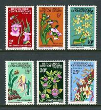 Central African Republic Scott #67-72 MLH Flowers Orchids FLORA CV$8+